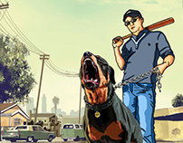 The picture in GTA style