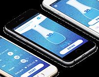 Water Drink Meter App Mobile Interaction Design