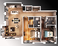 3d floorplans Sample for mobile devices