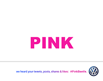 Magazine Ad: The new #PinkBeetle car colour