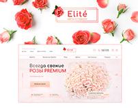 Online Flower & Gift shop. Concept website