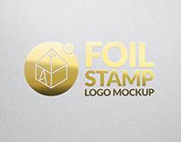 Gold Foil Stamp Logo Mockup 2