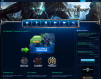 Starcraft 2 Joomla 1.7 Template