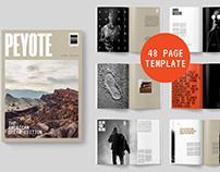 Peyote Magazine Template