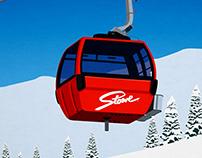 Stowe Ski Resort Poster