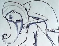 Animal Accessories - pen drawings