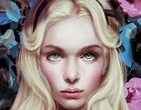 """Alice in Wonderland"" digital painting by Giulio Rossi"