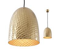 Dolce Beaten Brass Hanging Lamp