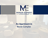 An Apartment in Route Complex