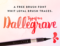 Dallegrave Free Brush Typeface