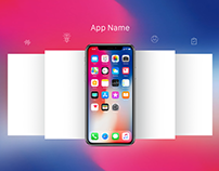 Free iPhone X App Screen Mockup PSD