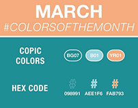 2019 Copic Color of the month challenge