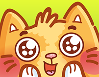 Ginger Cat iMessage stickers