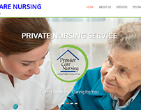 Website for Premier Care Nursing