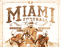 Miami Football Sun Bowl Poster