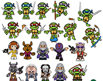 TMNT Cubeits Concepts - Toy Design