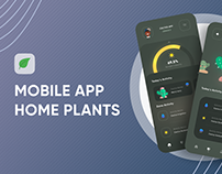 Mobile app home plants