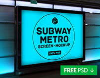 Free Subway Metro Screen Mockup