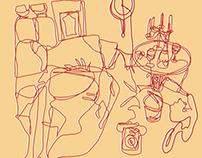 Single line drawing - Wildest dream