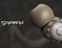Screamerz EarBuds Product 3D Visualization Rendering