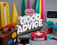 HSBC Good Advice 'Cardboard illustrations'