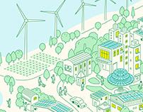 桃園市政府綠能專案推動室|網頁插畫