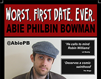 Abie Philbin Bowman Comedy Gig Poster