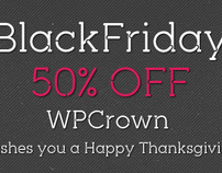 Black Friday & Cyber Monday Deal – 50% OFF