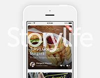Mobile Visual Storytelling App UX UI Design