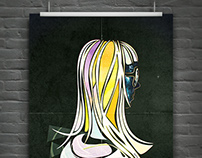 Futuristic Girl Poster & T-Shirt