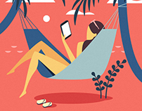 MAGGY. Magazines app. Illustrations