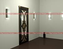 """""""Monna black"""" - door design (Black color)"""