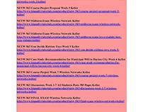NETW 563 Wireless Networks Entire Course Keller