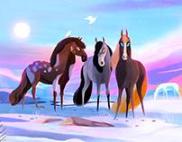 Horses Illustration