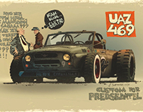 "Illustration ""Predsedatel and UAZ"""
