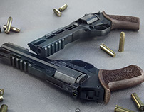 Rhino pistol 3d
