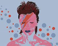 Ilustração digital homenagem à David Bowie