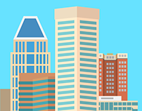 Baltimore Skyline Illustration