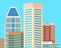 Baltimore Skyline Illustration
