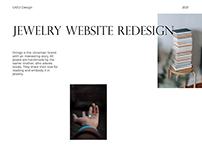 Jewelry website redesign