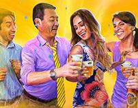 """""""Tenemos Barrio, Tenemos Sabor"""". Cerveza Cristal"""