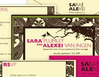 Sara & Alexei Wedding Invitation