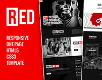 RED - One Page HTML5 Template