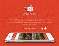 Grab for You (food delivery) App Design for my Client