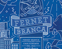 Fernet Branca / Icons, illustration, poster.