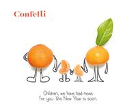 CONFETTI Menu Design