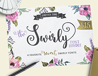 The Swirly Font Bundle