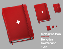 Moleskine Helvetica Icon - Red Edition