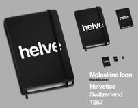 Moleskine Helvetica Icon - Black Edition