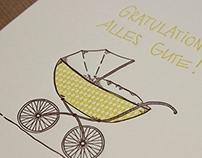Letterpress baby card